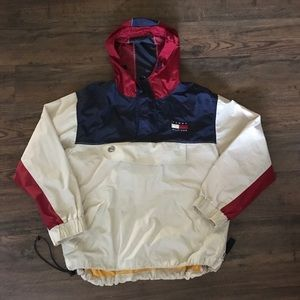 Vintage Men's Tommy Hilfiger Vented Rain Jacket